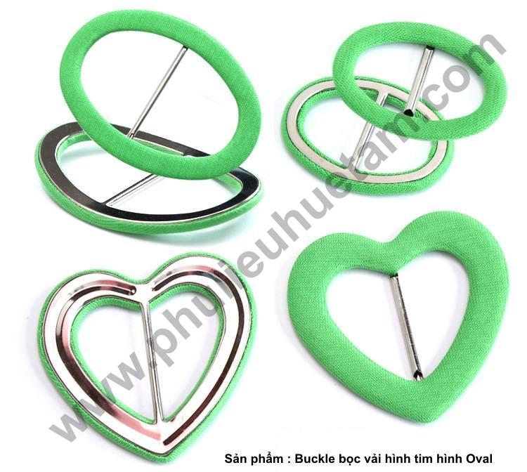 buckle hình tim hình oval